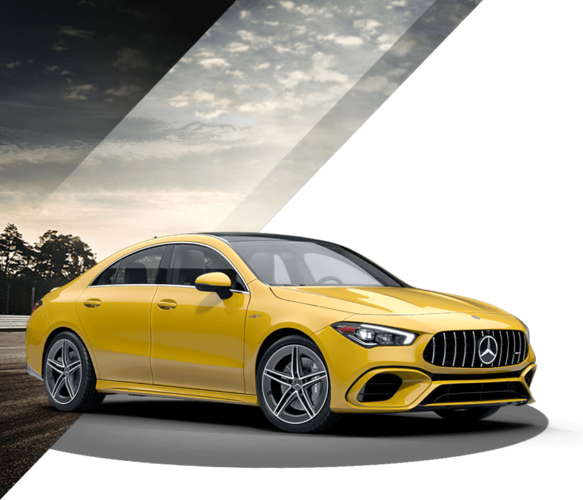 Yellow Mercedes-AMG CLA 45 Coupe