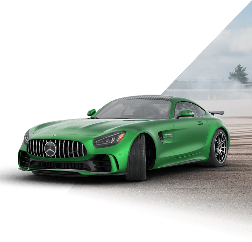 Green Mercedes-AMG GT R Coupe